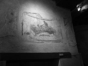 Väggmålning på bordell i Pompeji