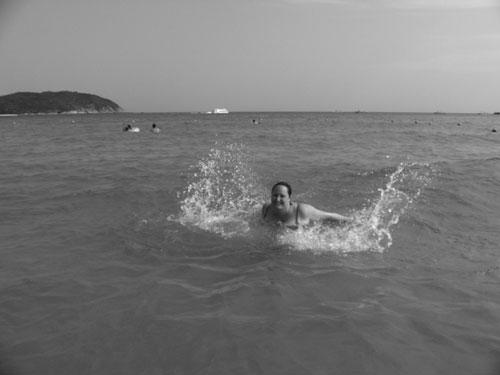 Jag badar