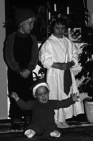 Luciafirande hos familjen Lager 1980