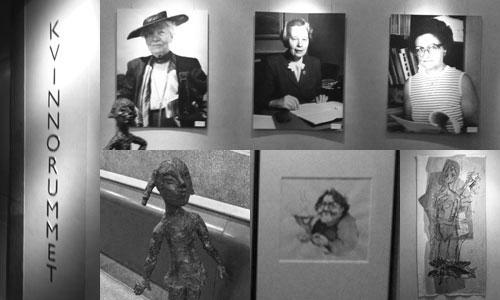 Kvinnorummet - ett collage