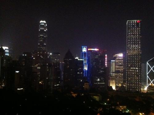 Utsikt från hotellet i Hongkong