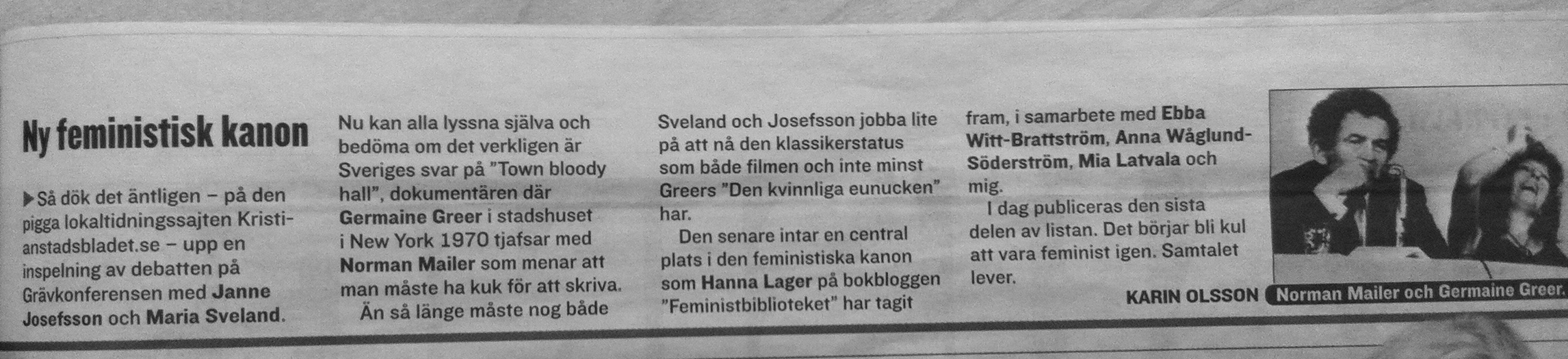 Notis i Expressen Kultur 22/3 2013