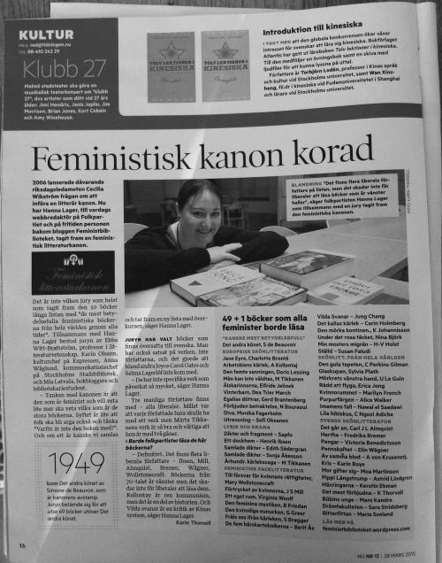Artikel i Tidningen NU 28/3 2013