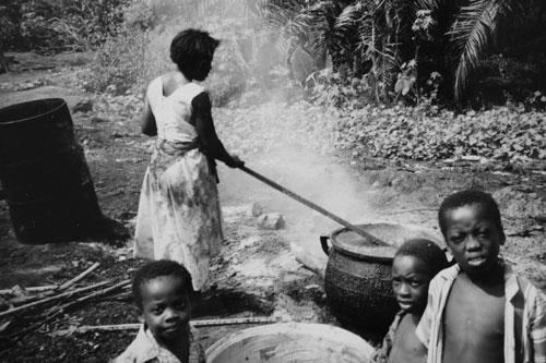 Palmoljefabrik i Ghana