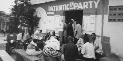 Partilokal på landet i Ghana